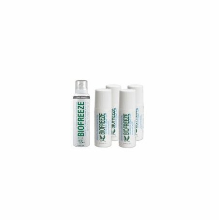 4 Biofreeze Rollons or 4 Tubes with Biofreeze 360 Spray