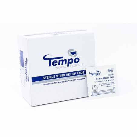 Tempo Sting Relief Pads - Box of 200