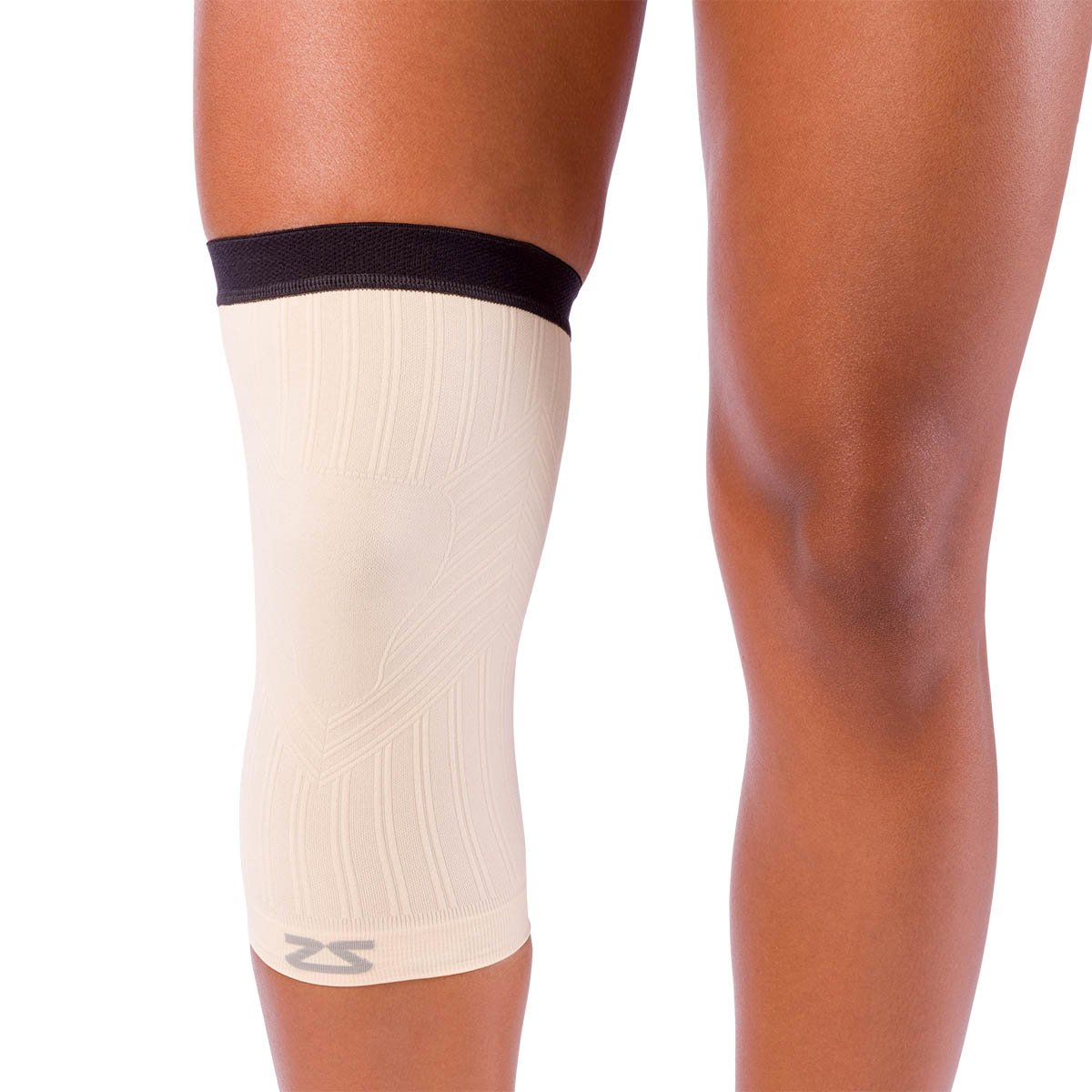 2d2d74c44a Zensah Beige Compression Knee Sleeve -- Free Shipping -- Ithaca Sports