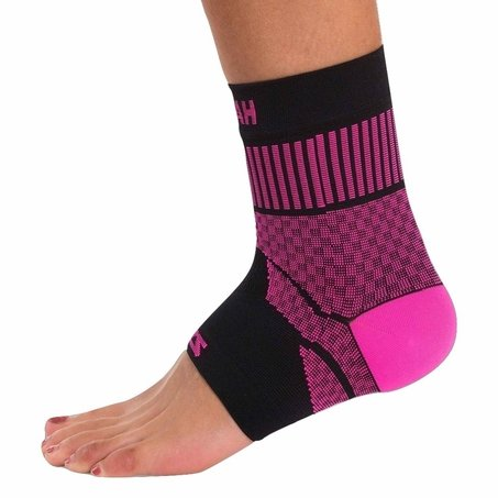 Zensah Compression Ankle Support - Neon Pink Clearance