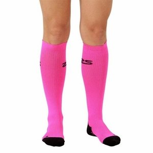 06232cee06 Zensah Compression Socks - Neon Pink -- Free Shipping -- Ithaca Sports