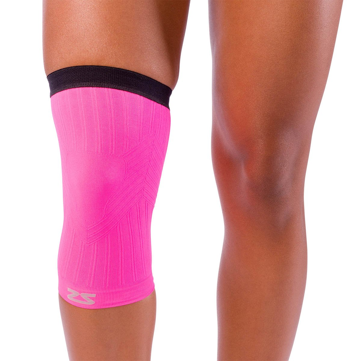 5c4f06e828 Zensah Neon Pink Compression Knee Sleeve -- Free Shipping -- Ithaca Sports