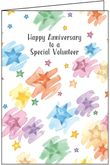 A1425V - Stars Anniversary Cards for Volunteers