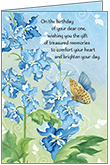 B1106H - Treasured Memories Anniversary of Birthday Cards