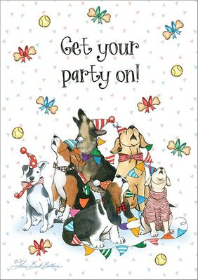 BU159 - Party Pets Birthday Cards
