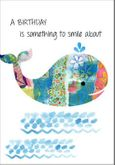 BN112 - Smiling Whale Birthday Card