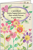 P1429 - Loss of Pet Sympathy Card
