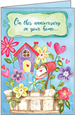 RE1432 - Home Anniversary Happy Wishes Cards