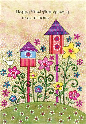 RE5425 - Happy First Anniversary in your Home Cards