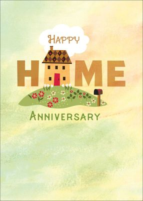 RE9463 - New Home Anniversary Cards