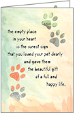 P9474 - Sincere Pet Sympathy Cards