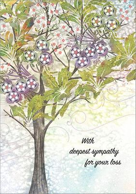 S9290 - Colorful Tree Sympathy Cards