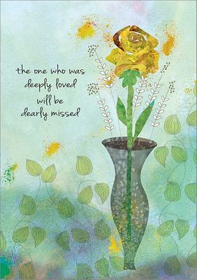 S9289 - Yellow Rose Sympathy Cards