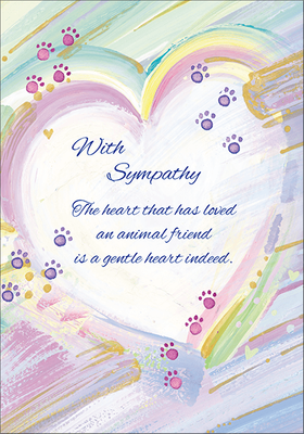 P1431 - Time of Loss Pet Sympathy Cards