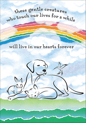 P432 - In Our Hearts Forever Pet Death Condolences Cards