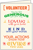 T9303V - Volunteer You Are Appreciated Cards
