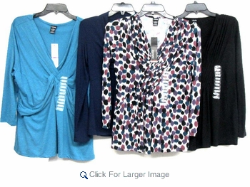 Assorted Wholesale Fashion Tops - Rafaella & Grace Elements - Click to enlarge