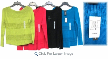 Assorted Women's Knitted Fashion Sweater - Click to enlarge