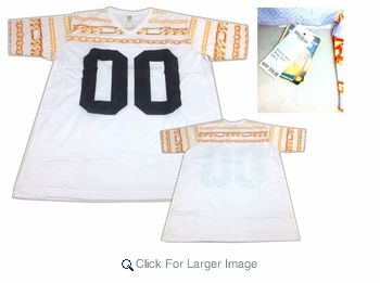 """Cuban Chains Mesh Jersey - White """"00"""" - Click to enlarge"""