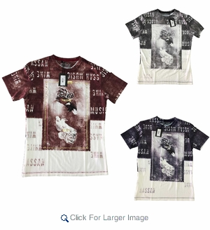 Men's Muscle Fit Sublimation Tees - Click to enlarge