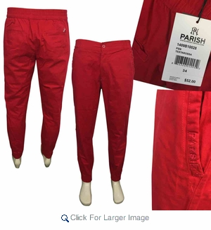 Parish Men's Jogger Pants - $12.50 - M-PAR-2028-RD - Click to enlarge