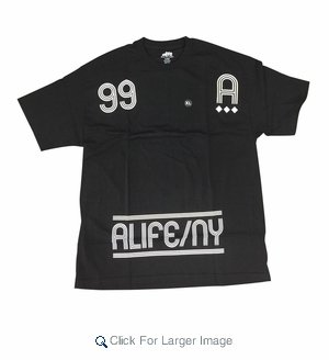 Wholesale Alife Neon Sign Tees Black - Click to enlarge