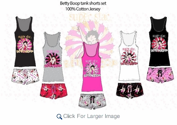 Wholesale Betty Boop Short Sets - $9.50 - Click to enlarge