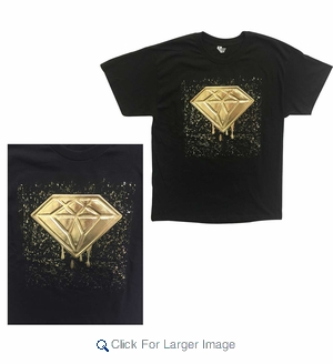 Wholesale Embossed Design Foil Tees - $9.50/pc. - Click to enlarge