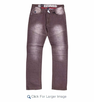 Wholesale Fashion Biker Clean Denim Burgundy - M-SWI-2BBP-BURG - Click to enlarge