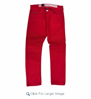 Wholesale Fashion Biker Clean Denim Red - M-SWI-2BBP-RD - Click to enlarge