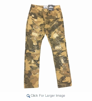 Wholesale Fashion Rip Repair Twill Pants w/ Paint Effect - $22.50/pc - Click to enlarge
