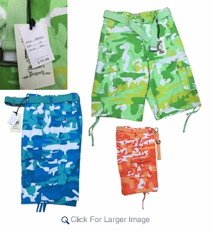 Wholesale Member's Property Camo Cargo Shorts - $12.50/pc - Click to enlarge