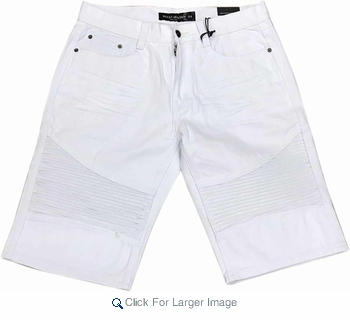 Wholesale Men's Fashion Biker Denim Shorts - $13.50/pc. - Click to enlarge