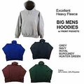 Wholesale Men's Heavyweight Baggy Fit Fleece Hoodies - $7.50/pc - M-TRO-1HOD-BIG