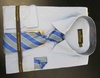 Men's L/S Dress Shirts W/ Tie & Handkerchief - Lt Blue  (Ties Vary)