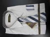 Men's L/S Dress Shirts W/ Tie & Handkerchief - Lt Grey  (Ties Vary)
