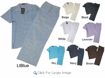 Wholesale Men's Linen-feel Sets - Many Colors - Comfortable Fit - Click to enlarge