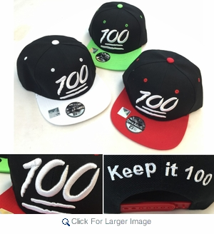 Wholesale Snapback Hats - Keep It 100 Embroidered Hat - Assorted -  4.50 pc  - e747ffbac207
