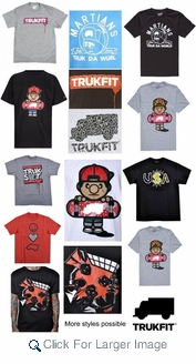Wholesale Trukfit Tees - $7.75/pc - M-TFT-1000-ASST - Click to enlarge