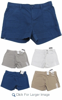 Women's Calvin Klein Ripstop Shorts - Assorted Khaki only 6pc packs  - Click to enlarge