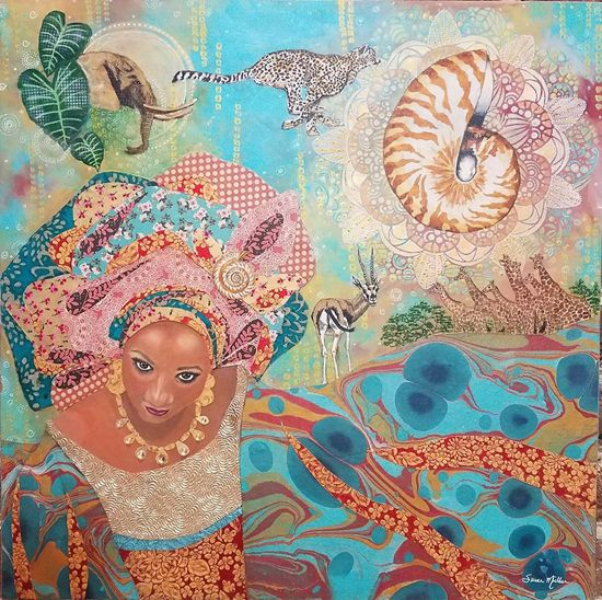 April 28 - Intuitive Painting and Collage: Whimsical Spring Faces with Susan Miller