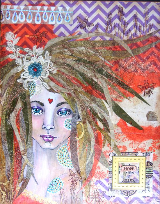 Feb 3 - Intuitive Painting and Collage: Whimsical Winter Faces with Susan Miller