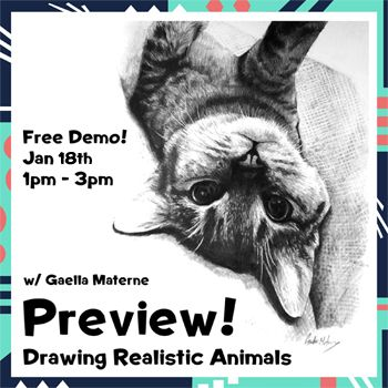 Jan 18 - Drawing Animals Preview w/ Gaella Materne