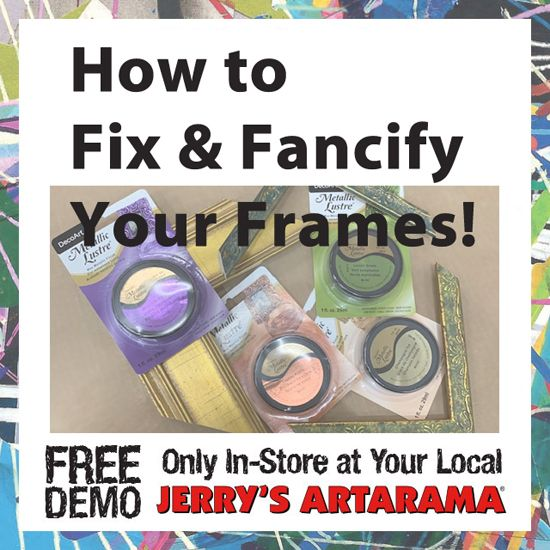 June 16 - How to Fix & Fancify Your Frames with Carbo