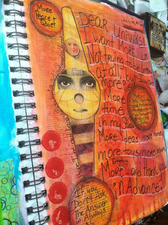 March 17 - Art Journaling – Mixed Media Mayhem  with Ophelia Staton