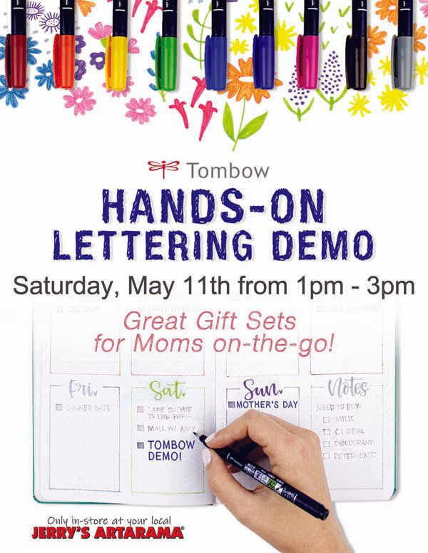 May 11 - Tombow Hands-On Lettering Demo