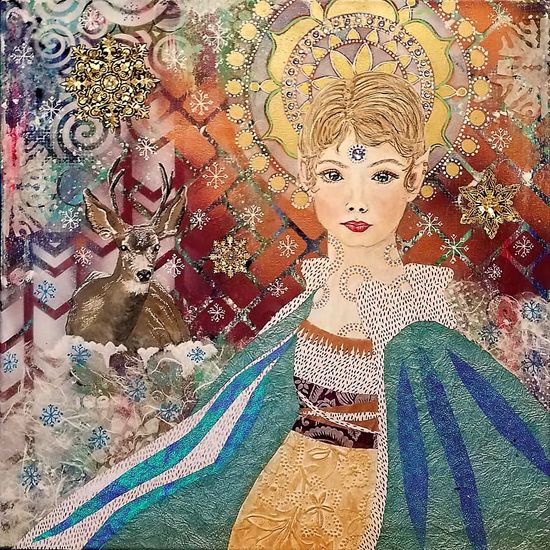 June 22 - Intuitive Painting & Collage: Whimsical Faces with Botanical/Nature Imagery with Susan Miller