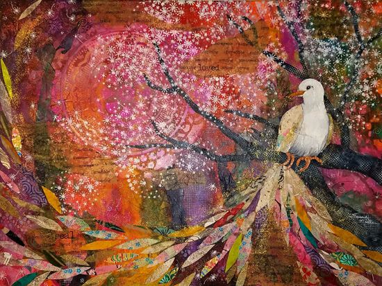 July 27 - Intuitive Painting & Collage: Botanical Whimsy with Winged, Feathered or Furry Friends with Susan Miller