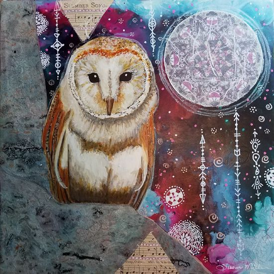 May 25 - Intuitive Painting & Collage: Botanical Whimsy with Winged, Feathered or Furry Friends With Susan Miller