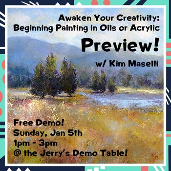Jan 5 - Beginning Painting Preview w/ Kim Maselli